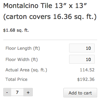 Woocommerce Measurement Price Calculator Frontend Display