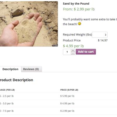 WooCommerce Measurement Price Calculator | Pricing Table Bulk Discounts