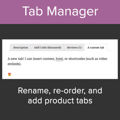 WooCommerce Custom Product Tab Manager
