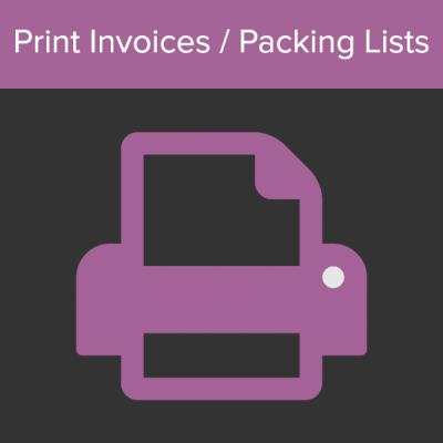 WooCommerce Print Invoice Packing List