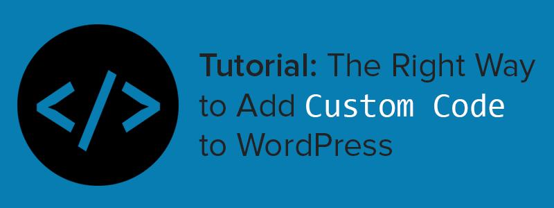 Add Custom Code to WordPress