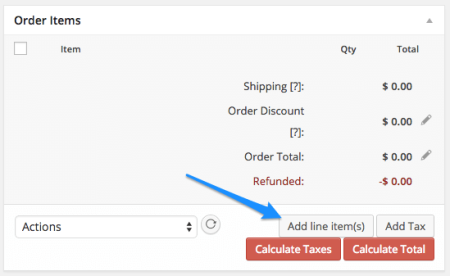 WooCommerce Add Order Items