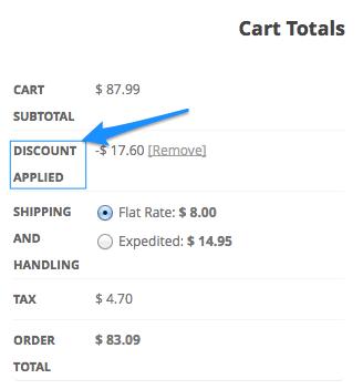 WooCommerce change coupon label