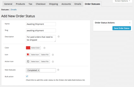 WooCommerce Order Status Manager new status