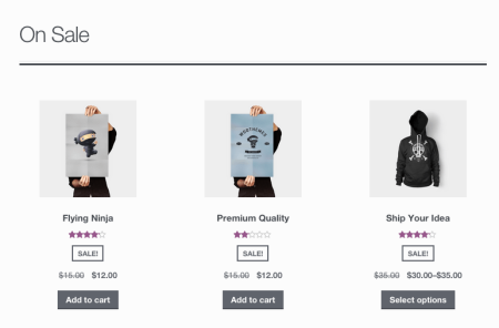WooCommerce sale products