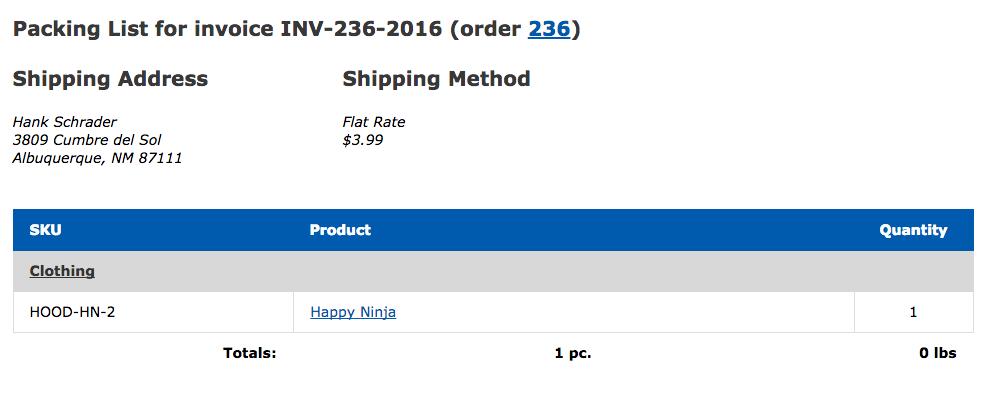 WooCommerce Print Invoices U0026 Packing Lists Default Packing List  Print An Invoice