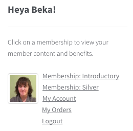 WooCommerce memberships: member widget links