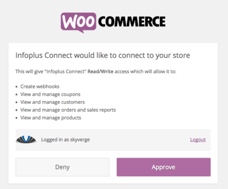 WooCommerce Infoplus Connection