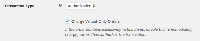 WooCommerce Authorize.Net SIM virtual only charge