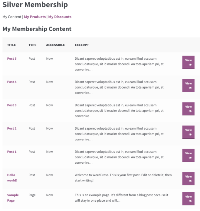 WooCommerce memberships: default content sorting